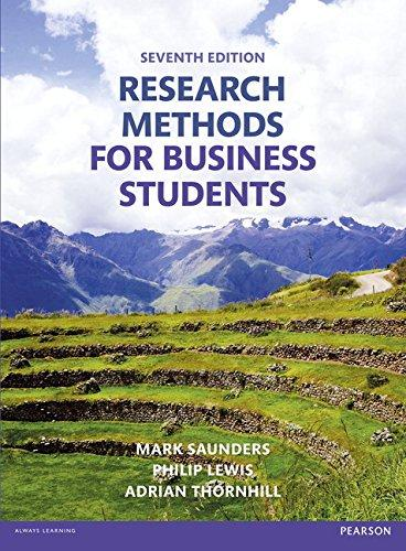 Research methods for business students / Mark Saunders, Philip Lewis, Adrian Thornhill.